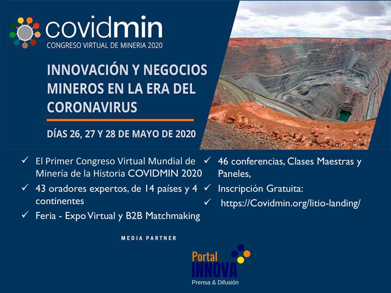 COVIDMIN 2020: Primer Congreso Virtual Mundial de Minería y Coronavirus