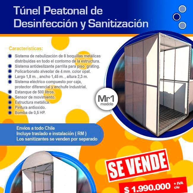 Túnel sanitizador peatonal desinfección