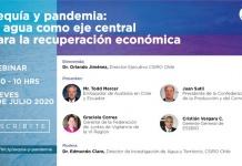 """Webinar """"Sequía y pandemia: el agua como eje central para la recuperación económica"""""""