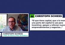 Christoph Schiess, presidente de Tánica, y su receta para promover el emprendimiento