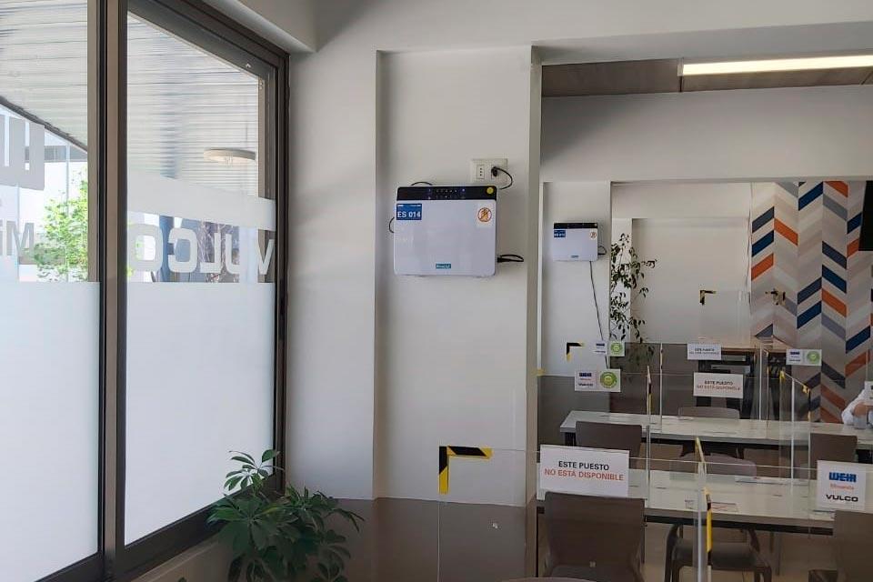 Vulco Weir Minerals implementa Luz UV-C de purificación y sanitización del aire, en espacios de trabajo
