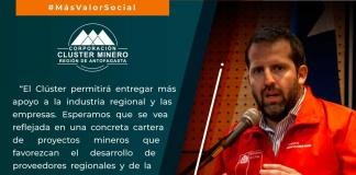 """Intendente regional de Antofagasta: """"El Clúster permitirá entregar más apoyo a la industria regional y las empresas"""""""