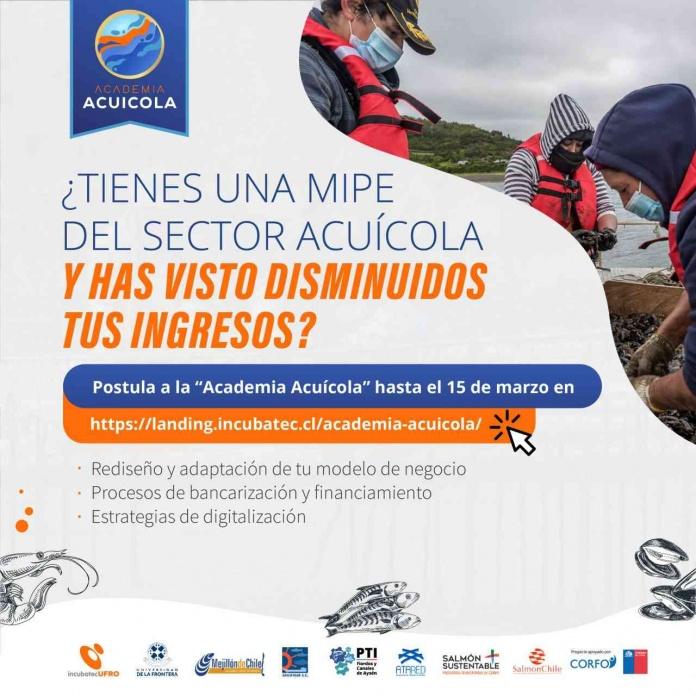IncubatecUFRO lanza programa Corfo en apoyo a micro y pequeñas empresas del sector acuícola