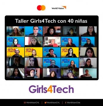 40 niñas de la ONG World Vision de todo Chile fueron las protagonistas de taller de ciencia y tecnología