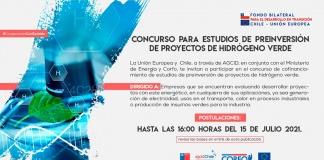Chile y la Unión Europea impulsan concurso para proyectos de hidrógeno verde