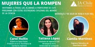 """""""MUJERES QUE LA ROMPEN"""" REUNIRÁ A CHILENAS DESTACADAS EN STEM"""