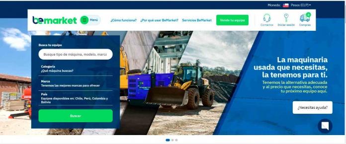 SK RENTAL LANZA PLATAFORMA BE-MARKET PARA COMPRAVENTA ONLINE DE MAQUINARIAS EN CHILE Y SUDAMERICA