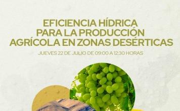 """Congreso virtual abordará los desafíos hídricos para el agro en zonas desérticas La Agencia de Sustentabilidad y Cambio Climático de Corfo organiza para el jueves 22 de julio el congreso virtual y gratuito """"Eficiencia Hídrica para la producción Agrícola en Zonas desérticas"""", dirigido especialmente a todo público en la Región de Atacama."""