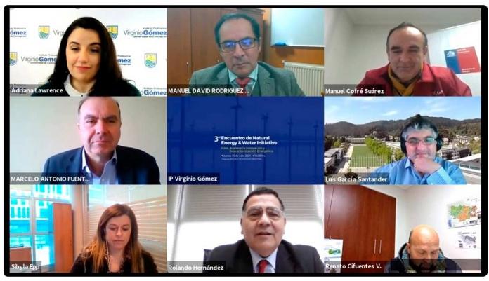 IPVG realizó tercera versión de Seminario Natural Energy & Water Concepción, 23 de julio de 2021.-Desde su origen, esta instancia busca reunir y generar diálogos en torno a temas de energía