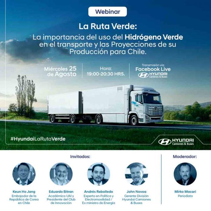 Conversatorio sobre la importancia del uso del hidrógeno verde en el transporte y las proyecciones de su producción para Chile