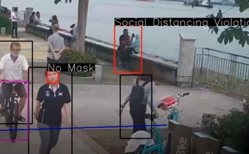 Detección de falta de distanciamiento social, uso de mascarillas y más: El análisis instantáneo de IA a través de cámaras CCTV puede ayudar a administrar los aeropuertos