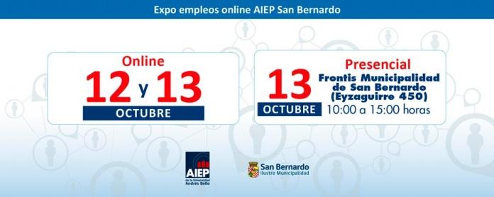 Expo empleos AIEP San Bernardo ofrecerá cerca de 2.000 vacantes laborales